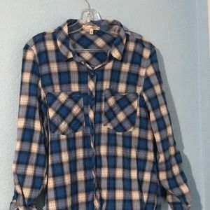 Blue and white comfiest flannel
